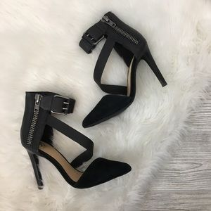 Joe's Jeans Leather Heels with Buckles